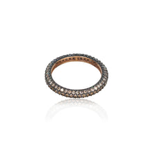 Load image into Gallery viewer, COGNAC DIAMOND PAVE RING FULL TURN