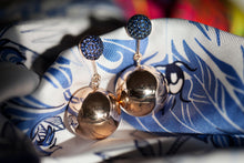 Load image into Gallery viewer, BLUE SAPPHIRE BAUBLE EARRINGS