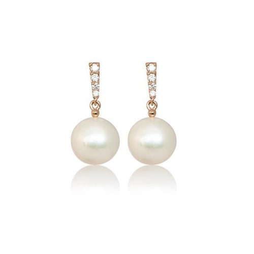 PEARL TRIANGLE BAR EARRINGS