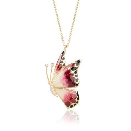BUTTERFLY ENAMEL NECKLACE
