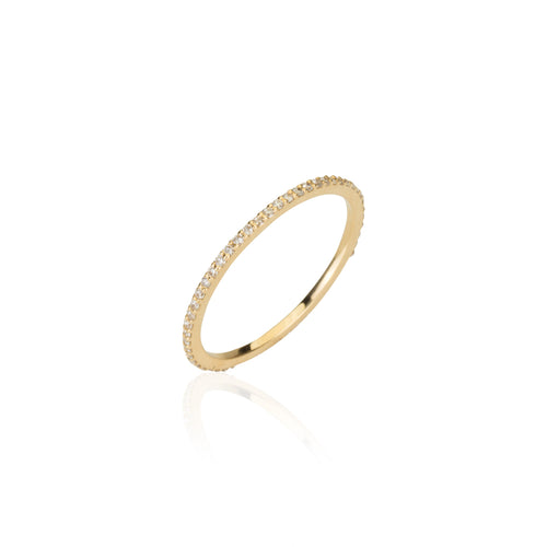 FULL TURN ETERNITY BAND YELLOW GOLD