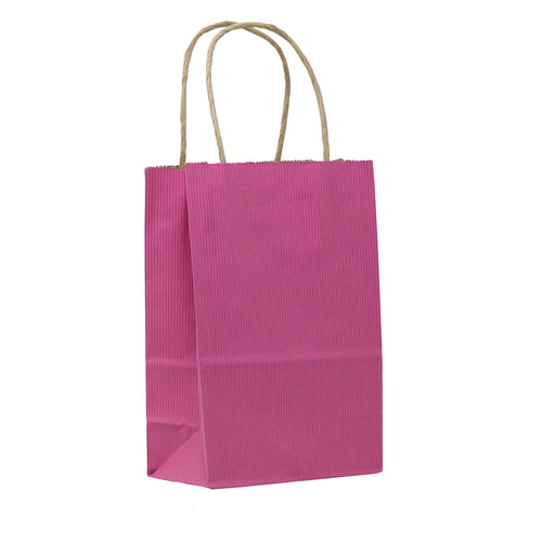 Striped Kraft Paper Bags