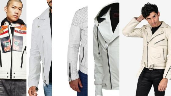 Top 5 White Leather Jackets for Men