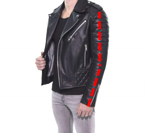 Fitting of the Sleeves biker jacket
