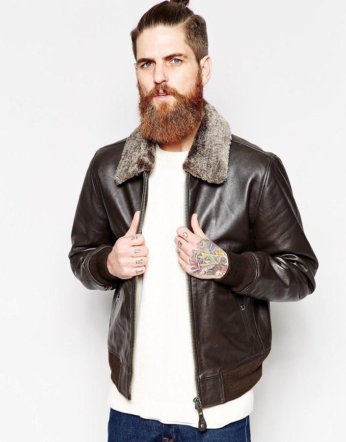 Leather Bomber Jackets With Fur