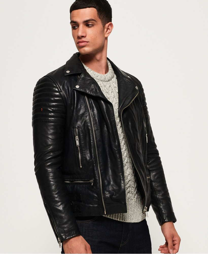 Premium Classic Leather Jacket from Superdry