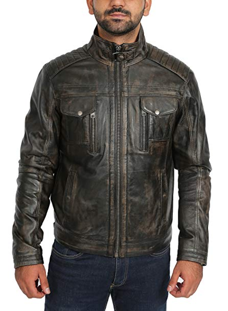 Rugged leather jacket