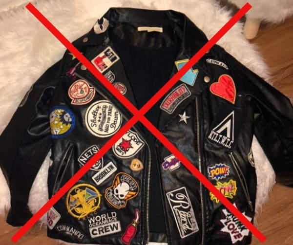 patches leather jacket