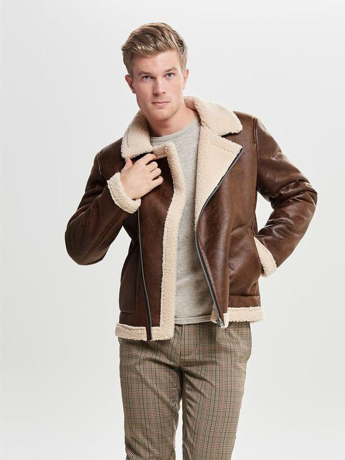 sherpa leather jacket