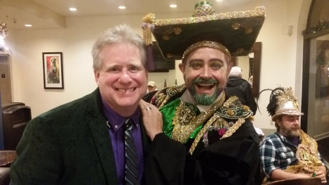 Will Samuels of Pizza Nola and Professor Carl Nivale, Mardi Gras 2017