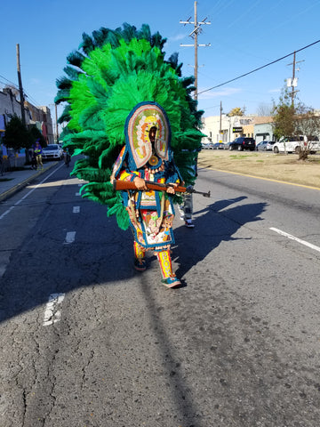 Mardi Gras Indian on St Claude 2018