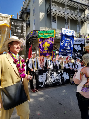 Pete Fountain's Half-Fast Walking Club on Royal Street, Mardi Gras 2018