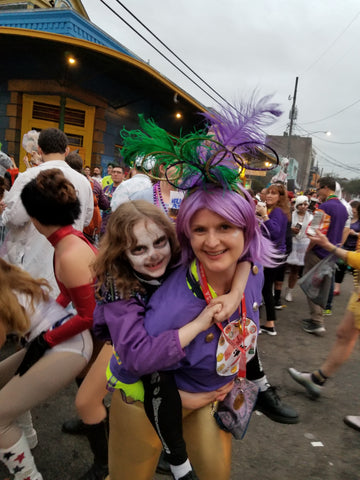 Dancing in the Marigny on Mardi Gras afternoon