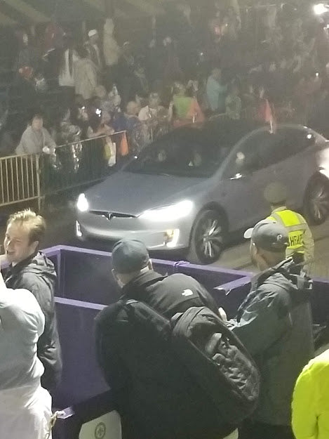 Cherie's Tesla in Krewe of Orpheus, 2020
