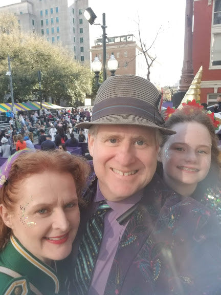 Samuels family parading at Gallier Hall