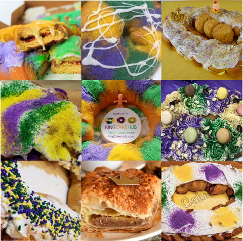 King Cake Collage