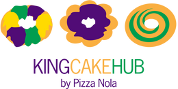 King Cake Hub by Pizza Nola- your source for the best Mardi Gras King Cakes!