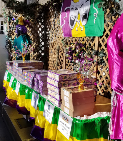 King Cakes on Display at King Cake Hub