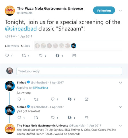Sinbad and Pizza Nola