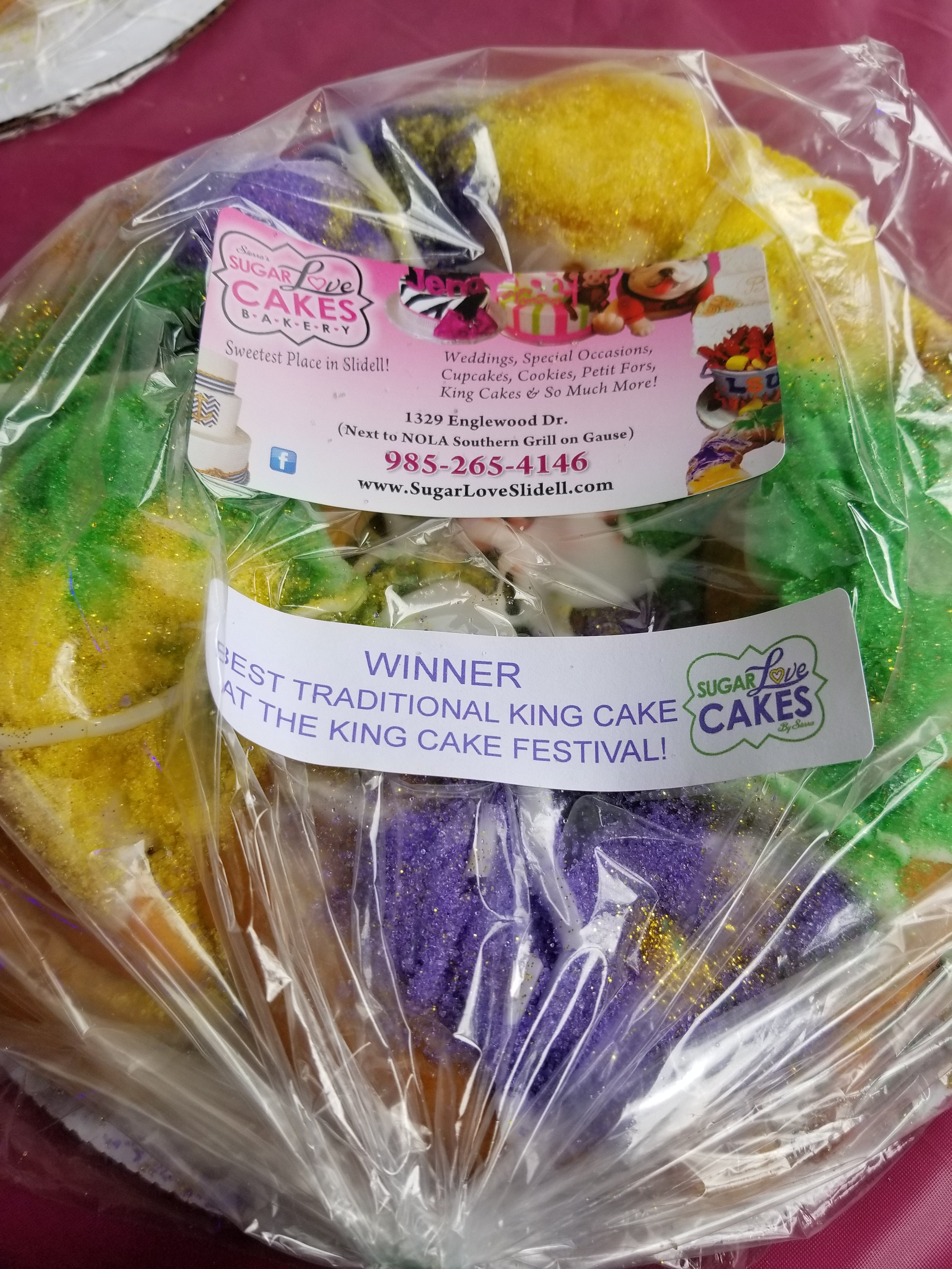 SugarLove Traditional King Cake