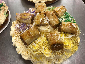 Caramel Crepes Du Leche King Cake from Balestra's Bakery made exclusive for the King Cake Coterie!