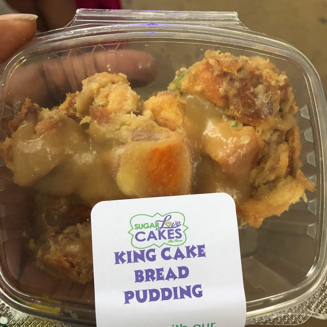 SugarLove King Cake Bread Pudding