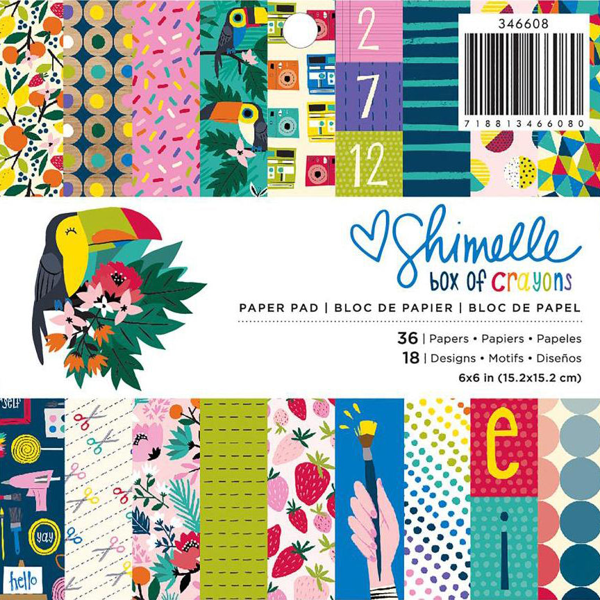 6x6 Paper Pad: Shimelle Box of Crayons