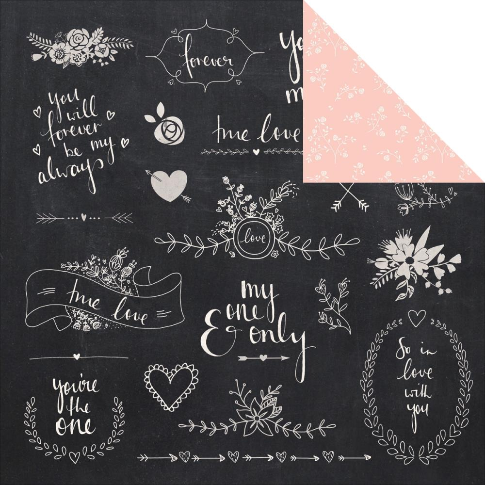 12x12 Designer Paper: XO (Ever After)