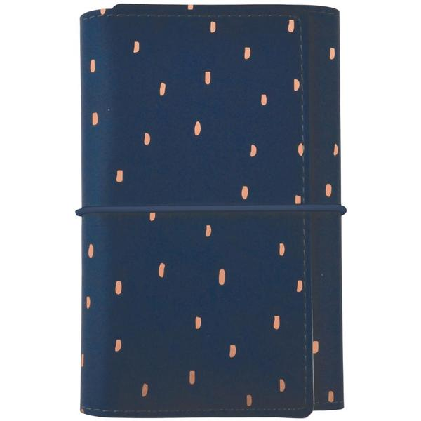 Tri-fold Planner 5x7: Navy with Rose Gold Accent