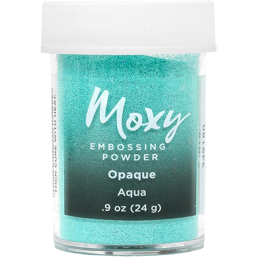 Opaque Aqua Embossing Powder