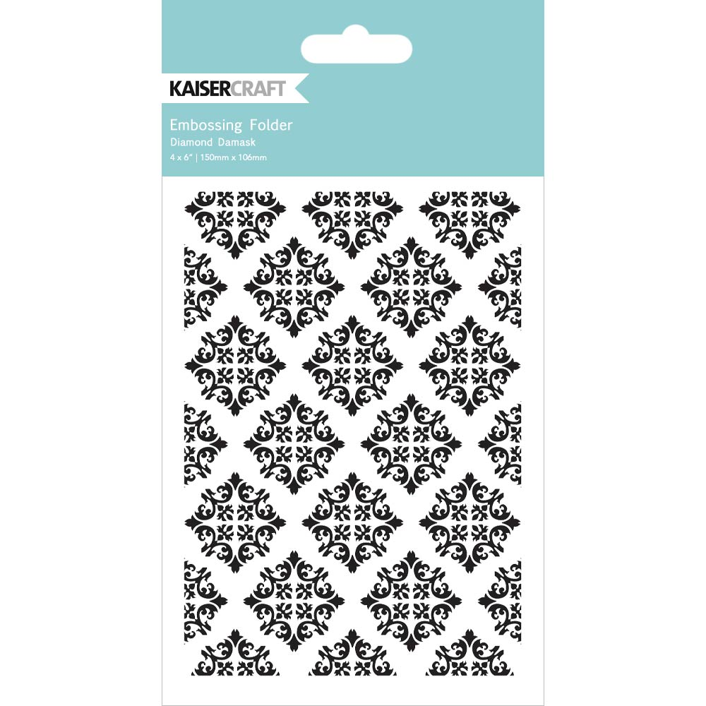 Diamond Damask Embossing Folder