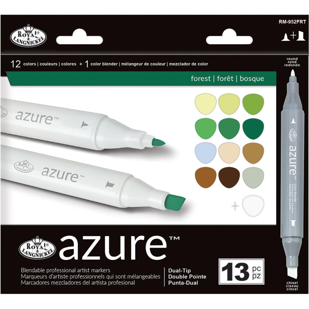 Azure™ Color Marker Set (13PC): Forest