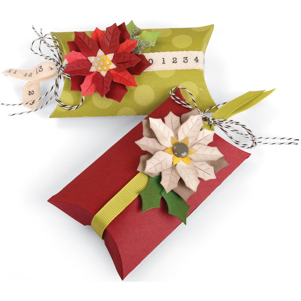 Jen Long Pillow & Poinsettias Box Thinlits Dies