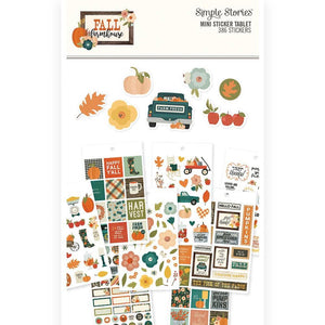 Carpe Diem Fall Farmhouse Mini Sticker Tablet