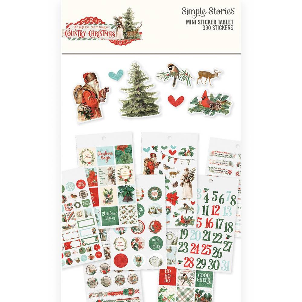 Carpe Diem Mini Sticker Tablet: Country Christmas