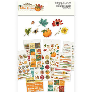 Carpe Diem Autumn Splendor Mini Sticker Tablet