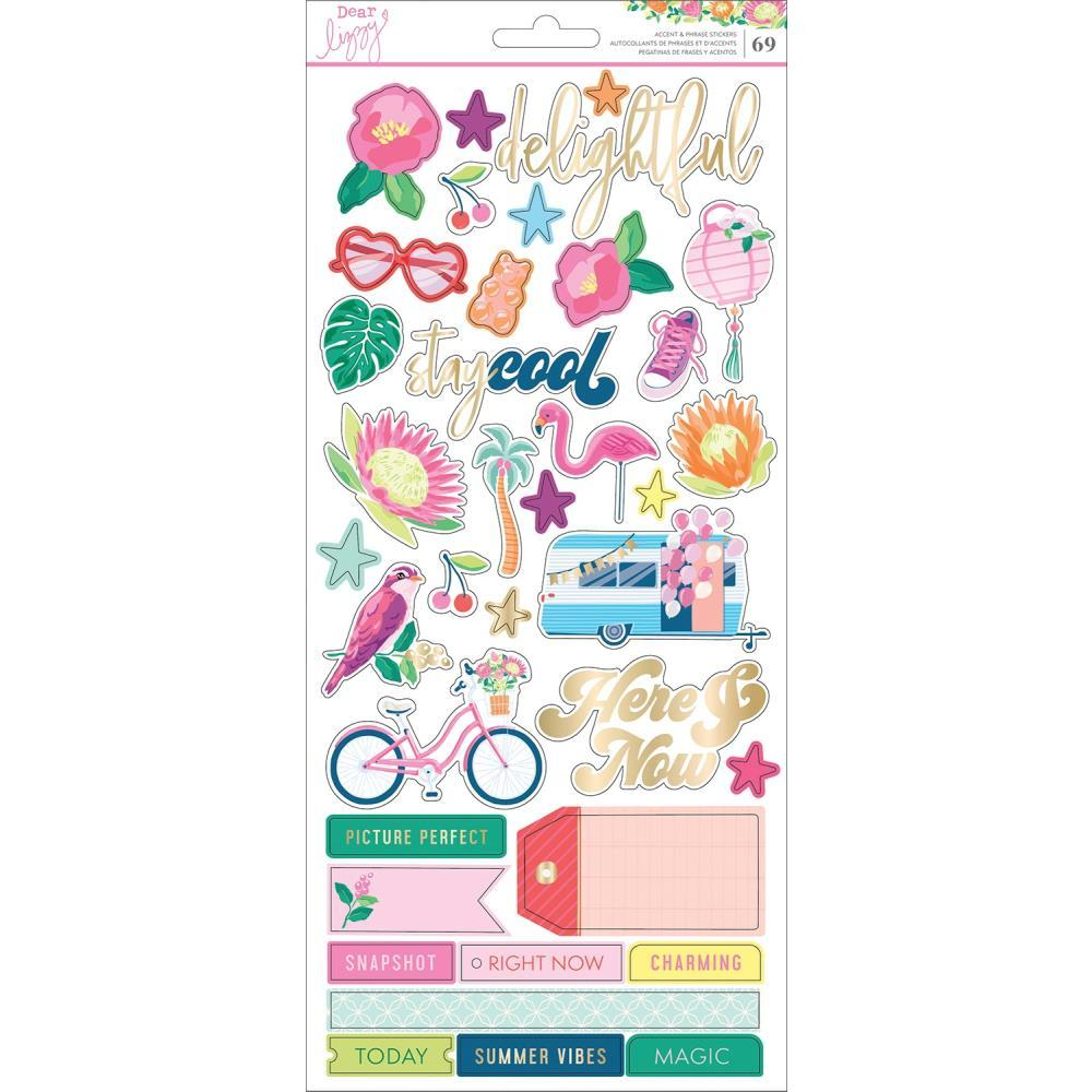 Dear Lizzy Here & Now Cardstock Stickers