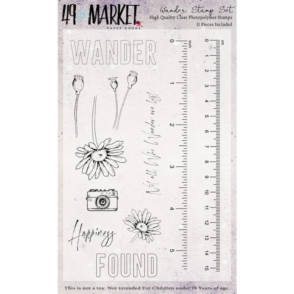 4x6 Clear Stamps: Wander