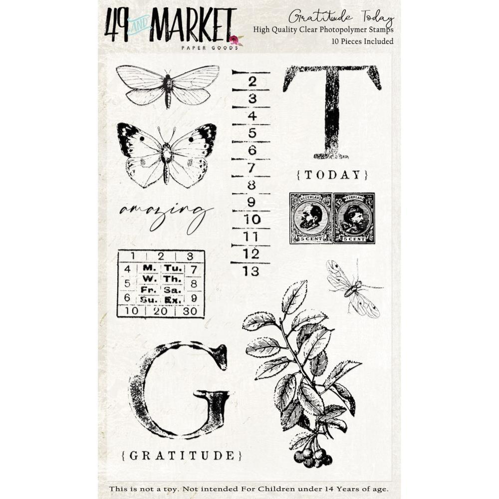 4x6 Clear Stamps: Gratitude Today