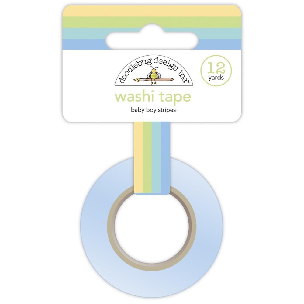 Special Delivery Baby Boy Stripes Washi Tape
