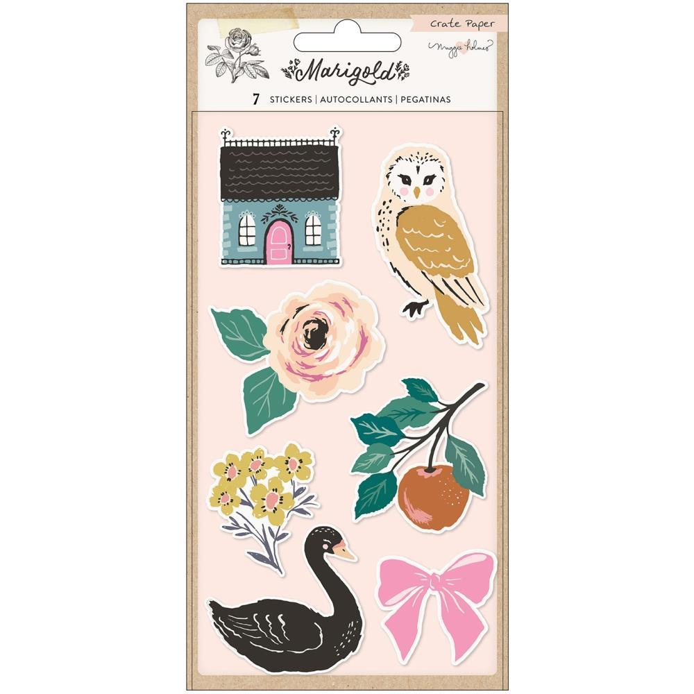 Maggie Holmes Marigold Embossed Puffy Stickers