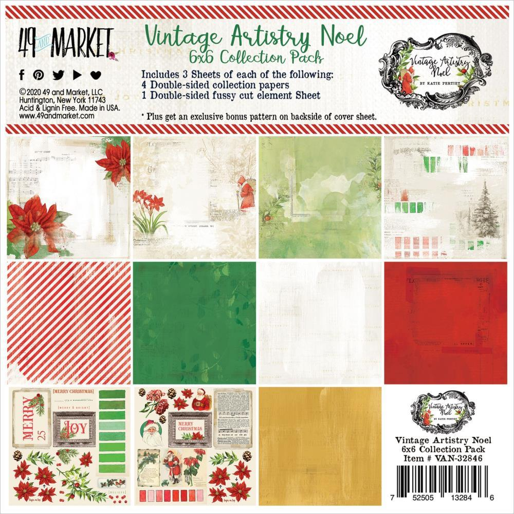 6x6 Collection Pack: Vintage Artistry Noel