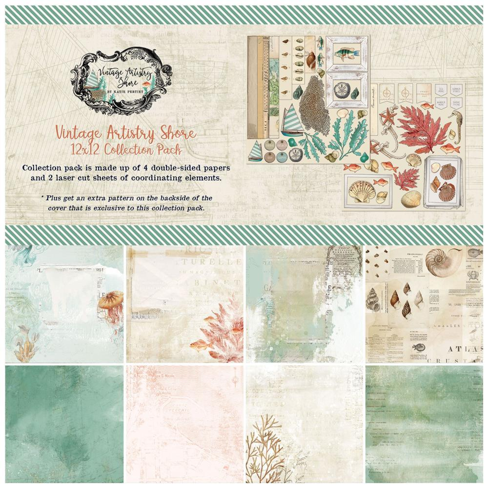 12x12 Collection Pack: Vintage Artistry Shore
