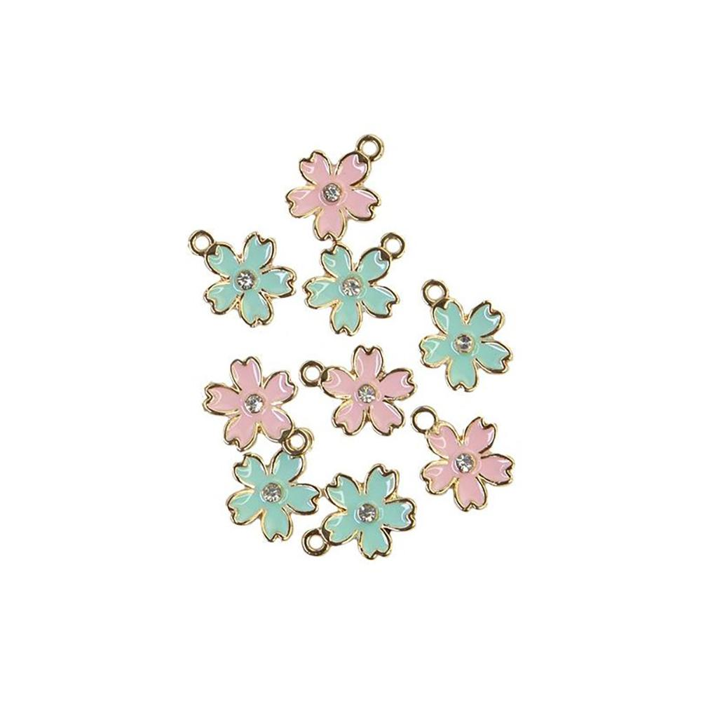 Sugar Cookie Christmas Flower Charms