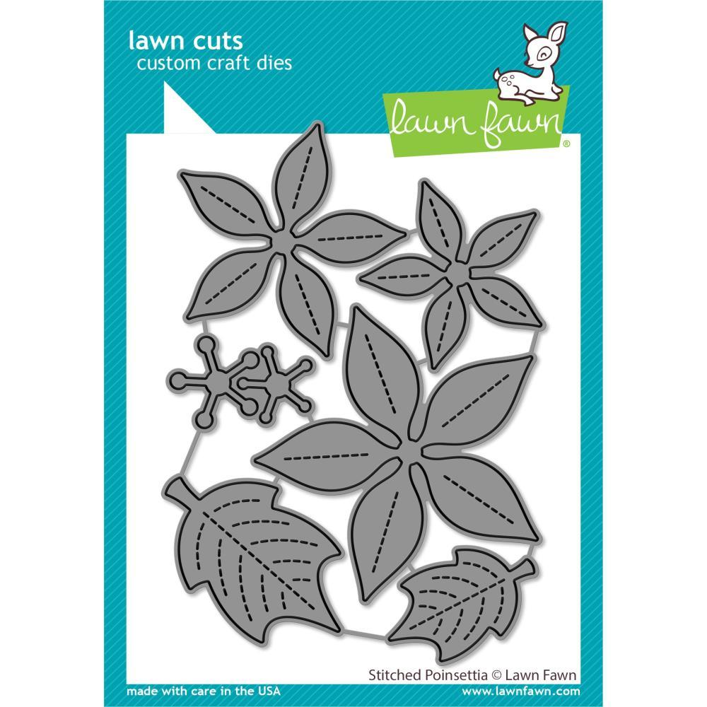 Stitched Poinsettia Lawn Cuts