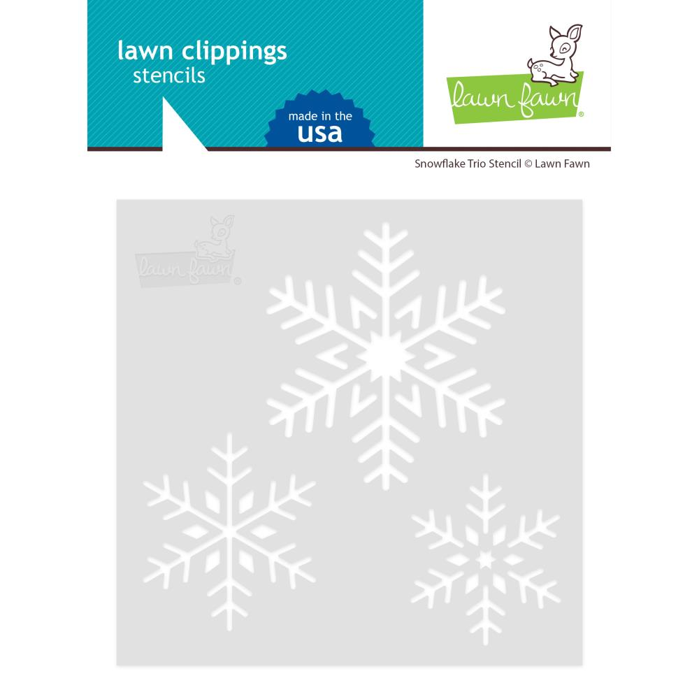 Snowflake Trio Lawn Clippings Stencils