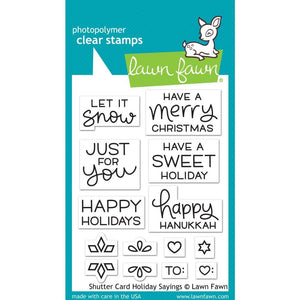 Shutter Card Holiday Sayings 3x4 Clear Stamps