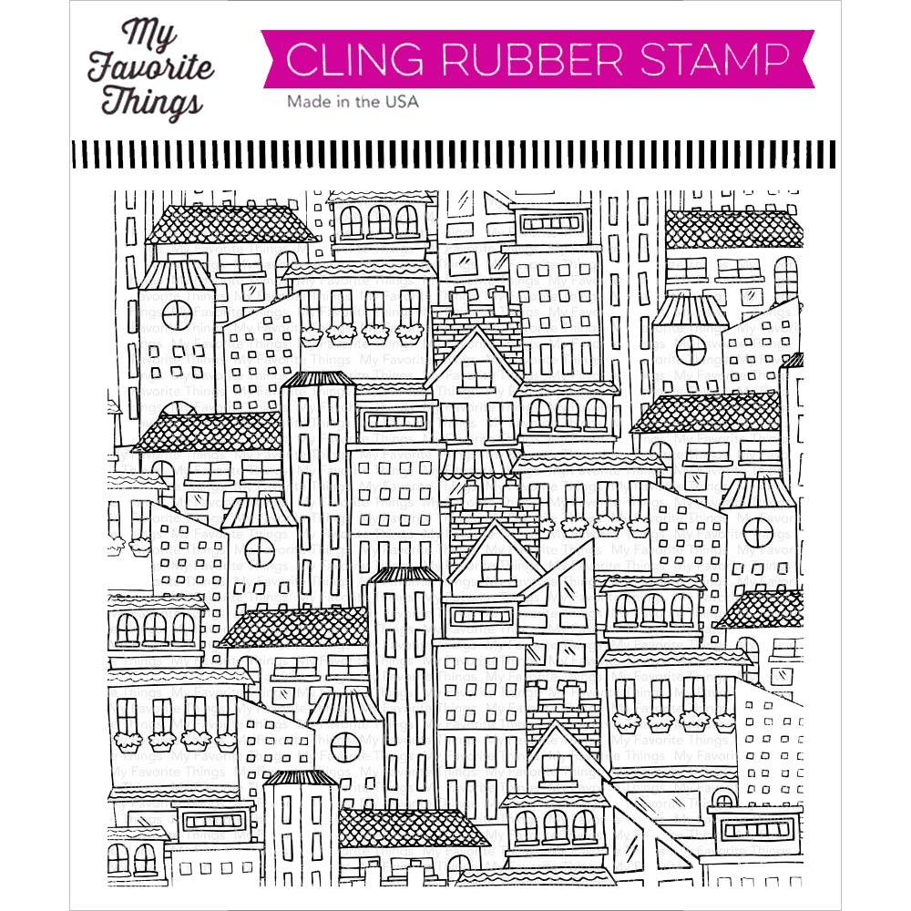City Block 6x6 Cling Stamps