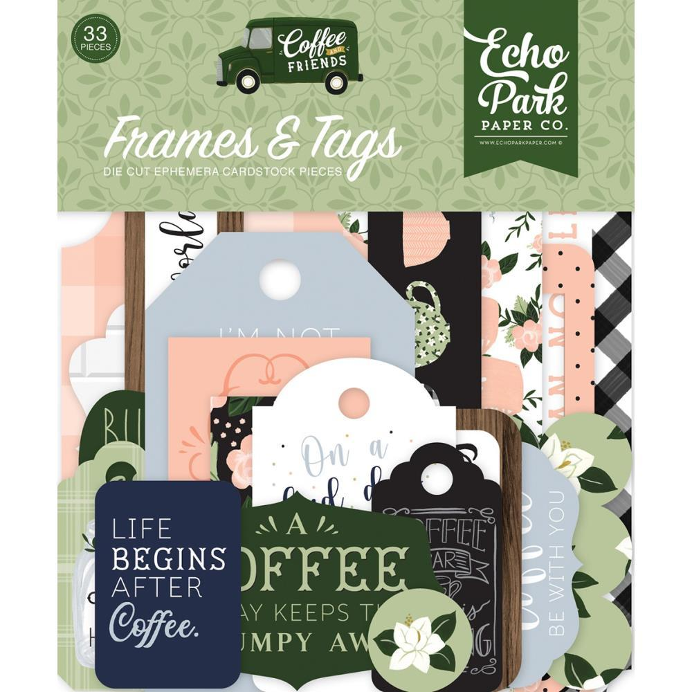 Coffee and Friends Ephemera: Frames & Tags