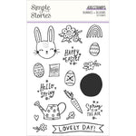 Bunnies & Blooms 4x6 Clear Stamp Set
